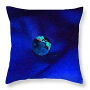 Earth Alone Throw Pillow by First Star Art