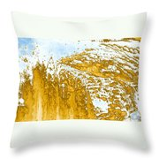 Earth And Space One Hill Throw Pillow