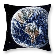 Earth Beauty Original Acrylic Painting Throw Pillow