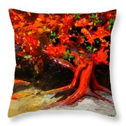 Earth Breathe Throw Pillow