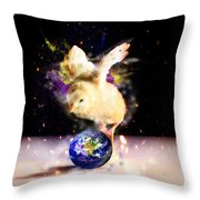 Earth Chick Throw Pillow