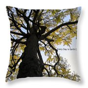 Earth Day Special - Ancient Tree Throw Pillow