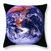 Earth From Space Centered On East Africa Throw Pillow