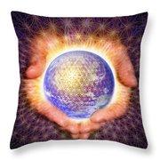 Earth Healing Throw Pillow