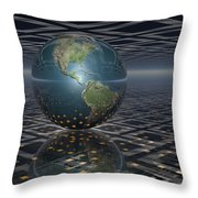 Earth Horizons Throw Pillow