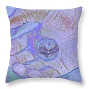 Earth In Hand Throw Pillow