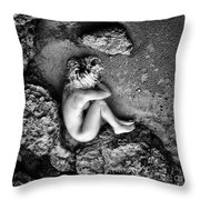 Earth Is My Birth Throw Pillow by Stelios Kleanthous
