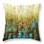Abstract Geometric Mid Century Modern Art Throw Pillow