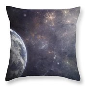Earth Planet Throw Pillow