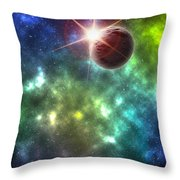 Earth The Final Frontier  Throw Pillow