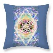 Earth Water Spirit Madonna Peace Matrix Throw Pillow