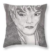 Eartha Kitt Throw Pillow