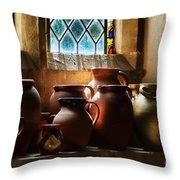 Earthenware Pots Throw Pillow