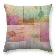 Earthly Garden Throw Pillow