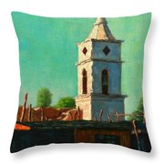 Earthquake Survivor, Peru Impression Throw Pillow