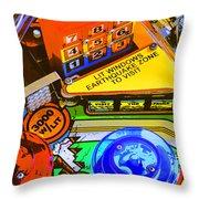 Earthquake Zone Throw Pillow