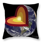 Earths Core, Illustration Throw Pillow