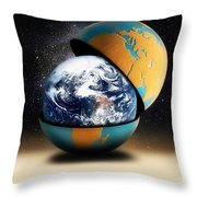 Earths Protective Cover Throw Pillow