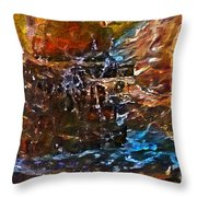 Earthy Abstract Throw Pillow