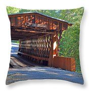 Easley Covered Bridge Throw Pillow
