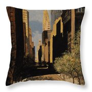 East 42nd Street Throw Pillow