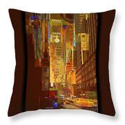 East 45th Street - New York City Throw Pillow