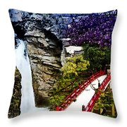 East And West Collage Throw Pillow