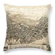 East Boston 1879 Throw Pillow