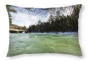 East Branch Of The Pemigewasset River - Lincoln New Hampshire Usa Throw Pillow