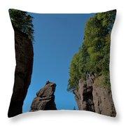 East Coast Landmark Throw Pillow