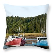 East Coast Low Tide Scene Throw Pillow