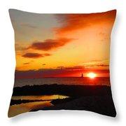 East Coast Sunrise  Throw Pillow