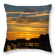 East Coast Sunset Throw Pillow