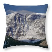 1m3743-east Face Mt. Kitchener With Cloud Throw Pillow