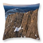 East From Mt. Evans Throw Pillow