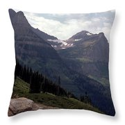 East Glacier National Park Throw Pillow