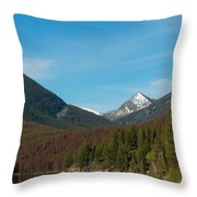 East Goat Mountain Throw Pillow