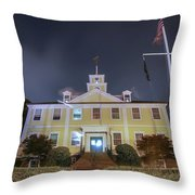 East Greenwich Town House At Night Throw Pillow