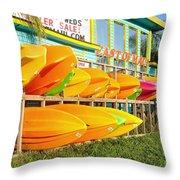 East Of Maui - Dewey Beach Delaware Throw Pillow