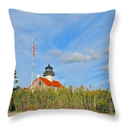 East Point In September Throw Pillow