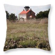 East Point Light Throw Pillow