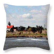 East Point Lighthouse II Throw Pillow