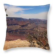 East Rim Grand Canyon Throw Pillow