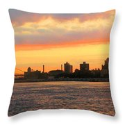 East River At Sunrise Throw Pillow
