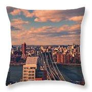 East River Bridges Throw Pillow