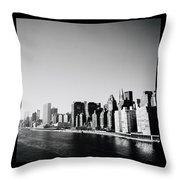 East River New York Throw Pillow