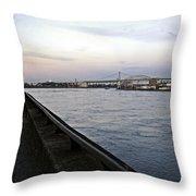 East River Vista 1 - Nyc Throw Pillow