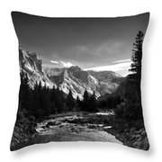 East Rosebud Canyon 7 Throw Pillow by Roger Snyder