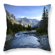 East Rosebud Canyon 8 Throw Pillow by Roger Snyder