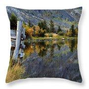 East Rosebud Lake Fall Panorama Throw Pillow